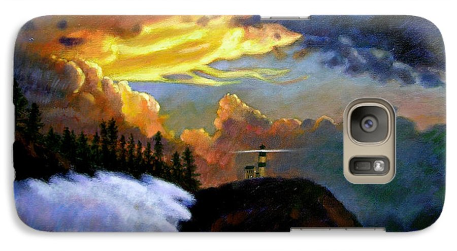 Ocean Galaxy S7 Case featuring the painting Shelter From The Storm by John Lautermilch