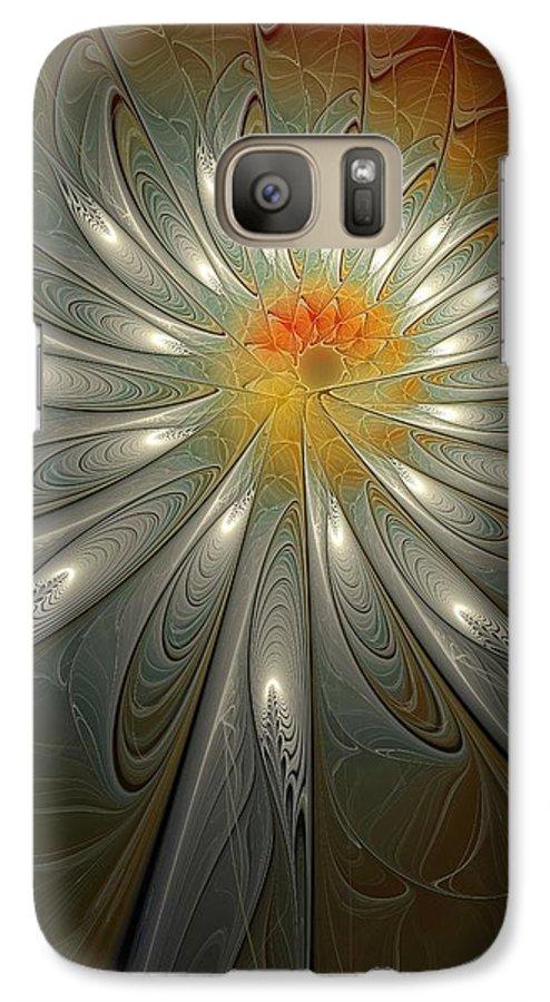 Digital Art Galaxy S7 Case featuring the digital art Shimmer by Amanda Moore