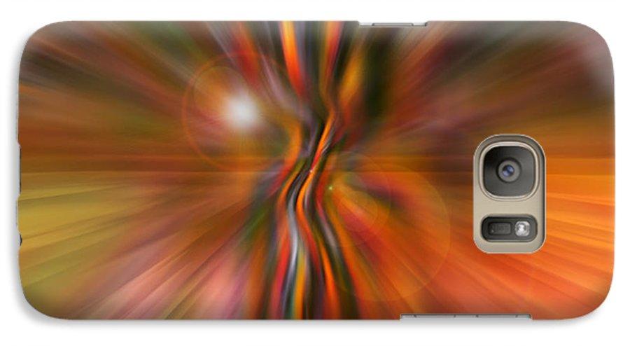 Abstract Art Galaxy S7 Case featuring the digital art Shine On by Linda Sannuti