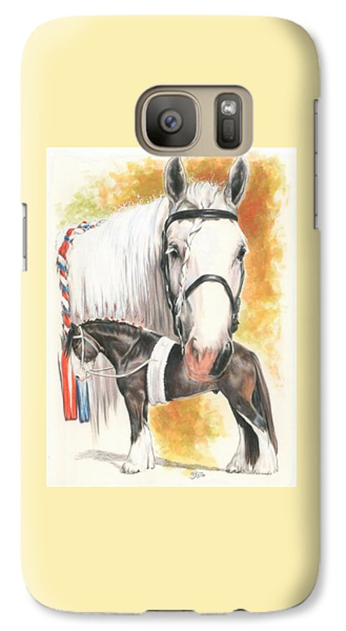 Shire Galaxy S7 Case featuring the mixed media Shire by Barbara Keith