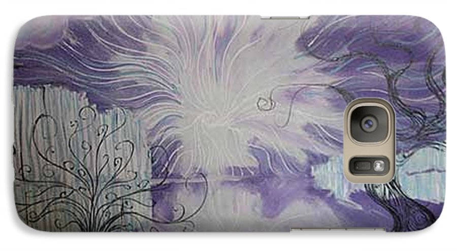 Squiggleism Galaxy S7 Case featuring the painting Shore Dance by Stefan Duncan