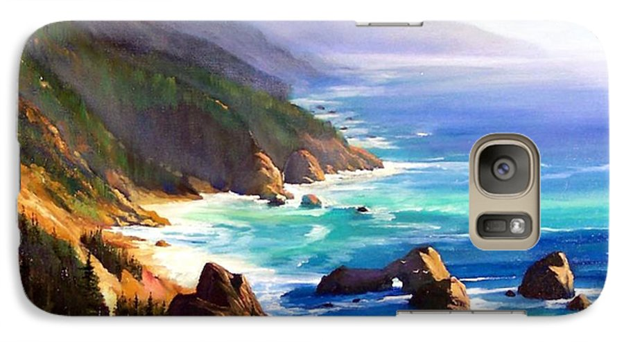 Seascape Galaxy S7 Case featuring the painting Shore Trail by Frank Wilson