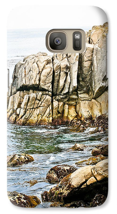 Pebble Beach Galaxy S7 Case featuring the photograph Shores Of Pebble Beach by Marilyn Hunt