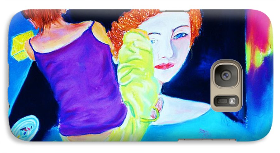 Painting Within A Painting Galaxy S7 Case featuring the print Sidewalk Artist II by Melinda Etzold