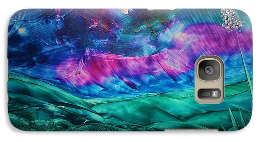 Desert Galaxy S7 Case featuring the print Sierra Vista by Melinda Etzold