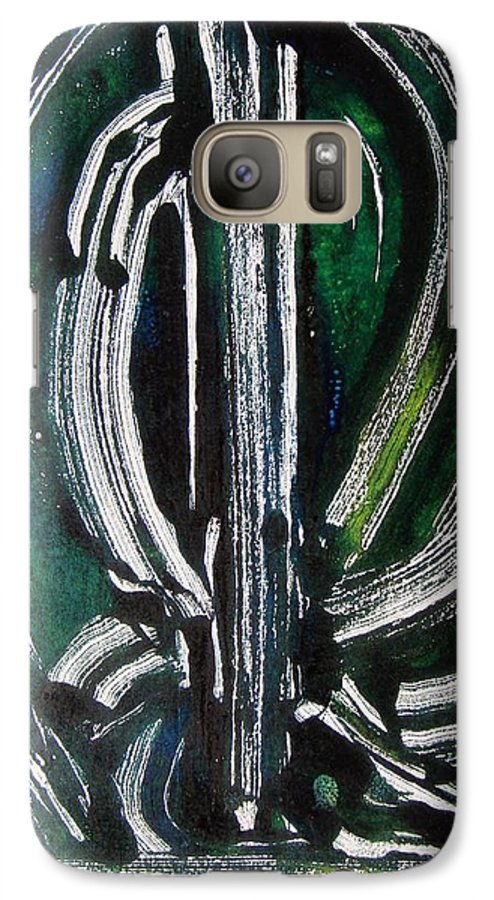 Abstract Galaxy S7 Case featuring the painting Signe by Muriel Dolemieux