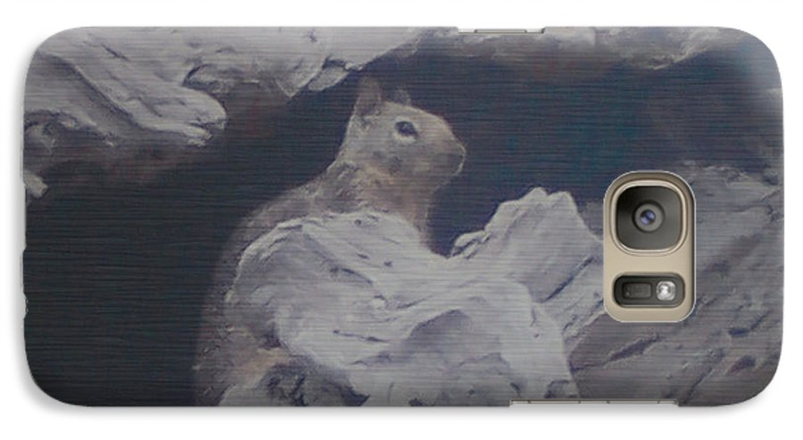 Squirrel Galaxy S7 Case featuring the photograph Silent Observer by Pharris Art