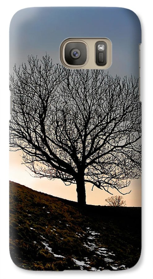 Tree Galaxy S7 Case featuring the photograph Silhouette Of A Tree On A Winter Day by Christine Till