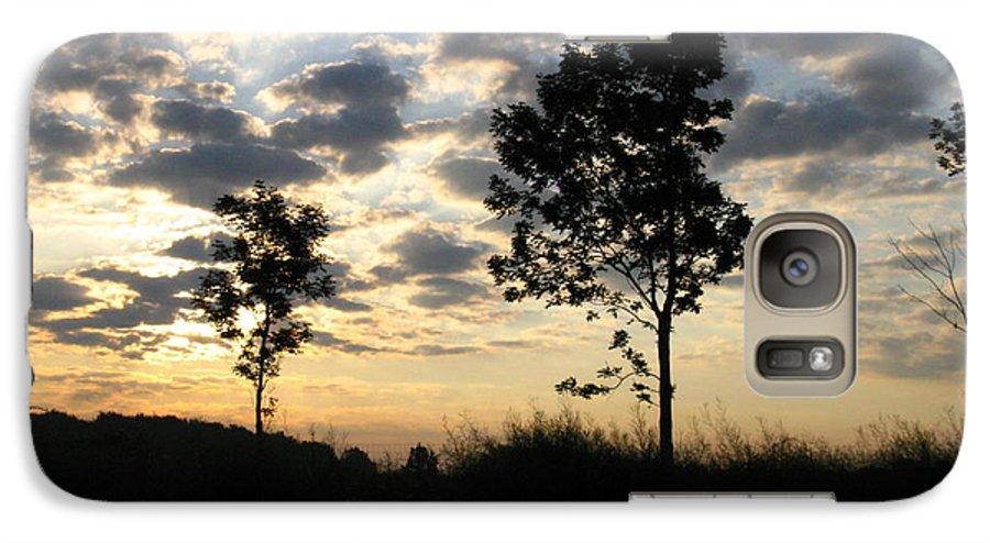 Landscape Galaxy S7 Case featuring the photograph Silhouette by Rhonda Barrett
