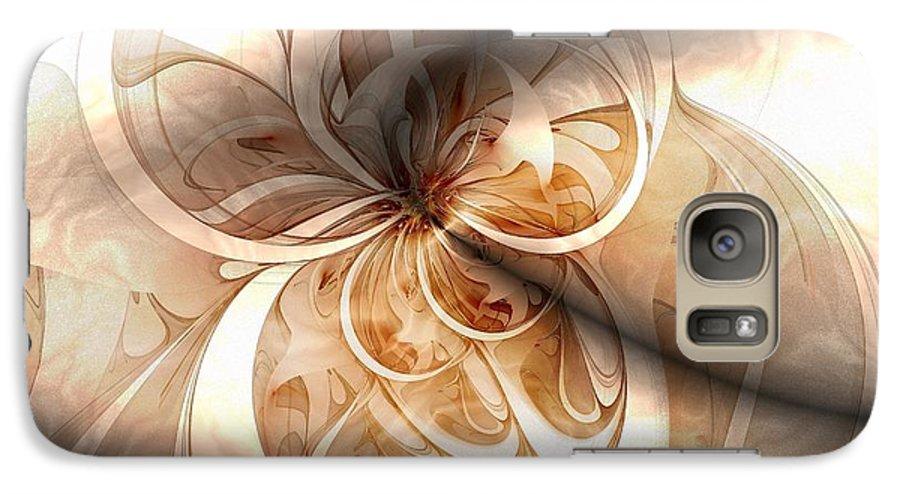 Digital Art Galaxy S7 Case featuring the digital art Silk by Amanda Moore