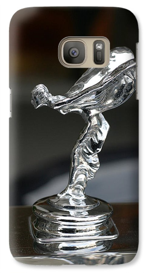Flying Galaxy S7 Case featuring the photograph Silver Woman In Flight by Carl Purcell