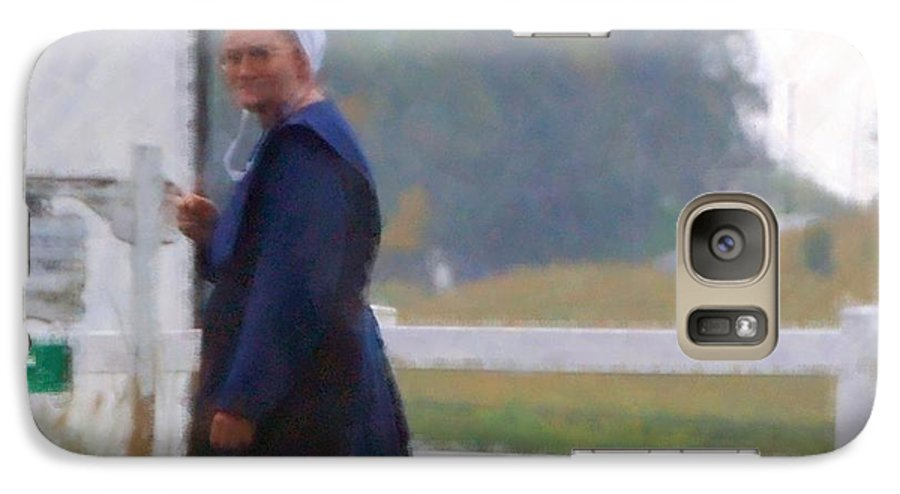 Amish Galaxy S7 Case featuring the photograph Simple Living by Debbi Granruth