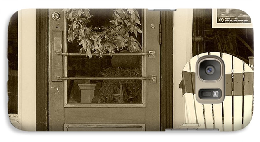Rocking Chair Galaxy S7 Case featuring the photograph Simple Times by Debbi Granruth