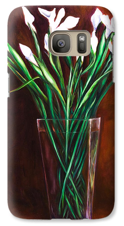 Iris Galaxy S7 Case featuring the painting Simply Iris by Shannon Grissom