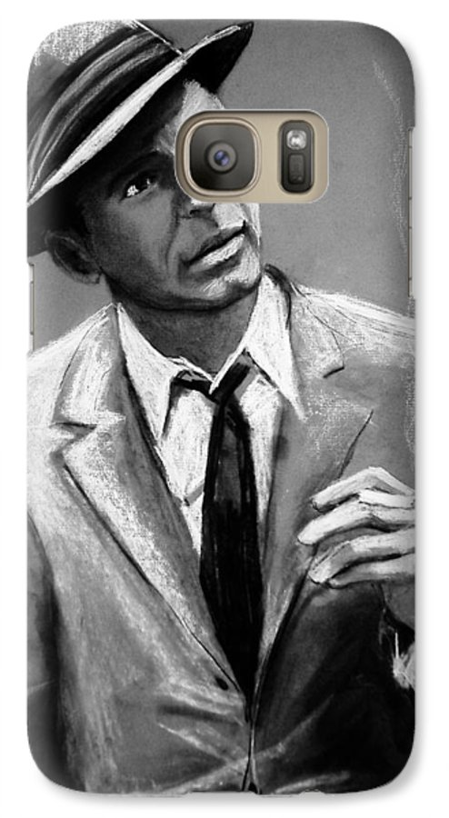 Frank Sinatra Galaxy S7 Case featuring the drawing Sinatra by Laura Rispoli