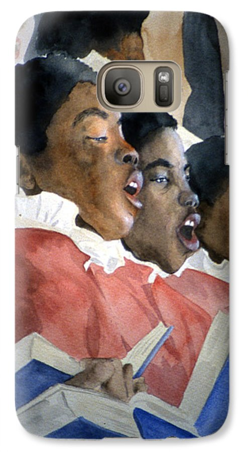 Choir Galaxy S7 Case featuring the painting Sing Out Your Joy by Jean Blackmer