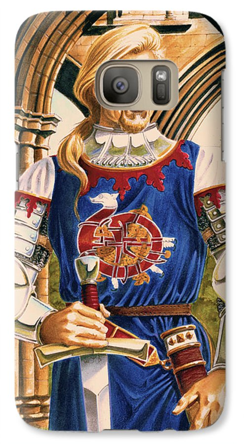 Swords Galaxy S7 Case featuring the painting Sir Dinadan by Melissa A Benson