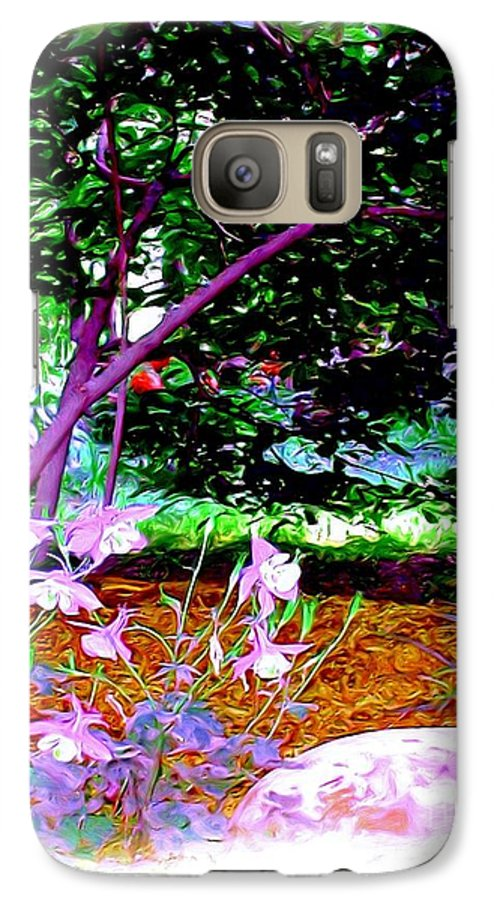 Fine Art Galaxy S7 Case featuring the painting Sitting In The Shade by Patricia Griffin Brett