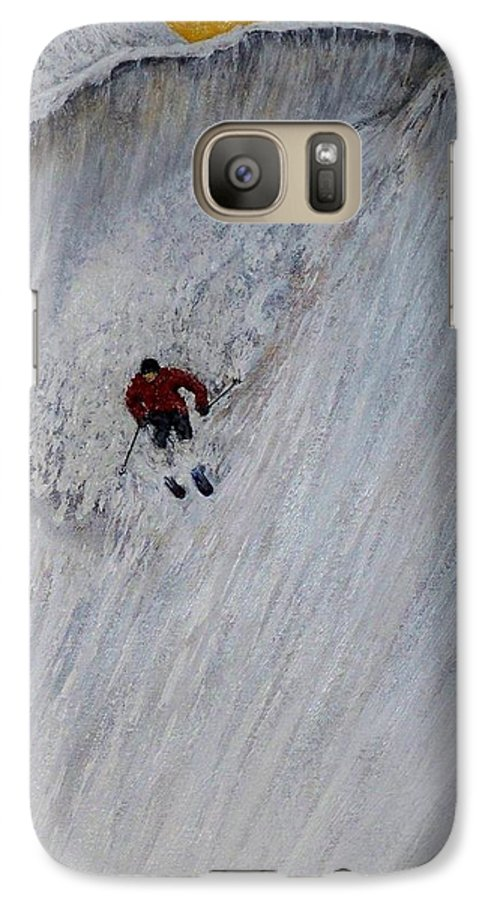 Landscape Galaxy S7 Case featuring the painting Skitilthend by Michael Cuozzo