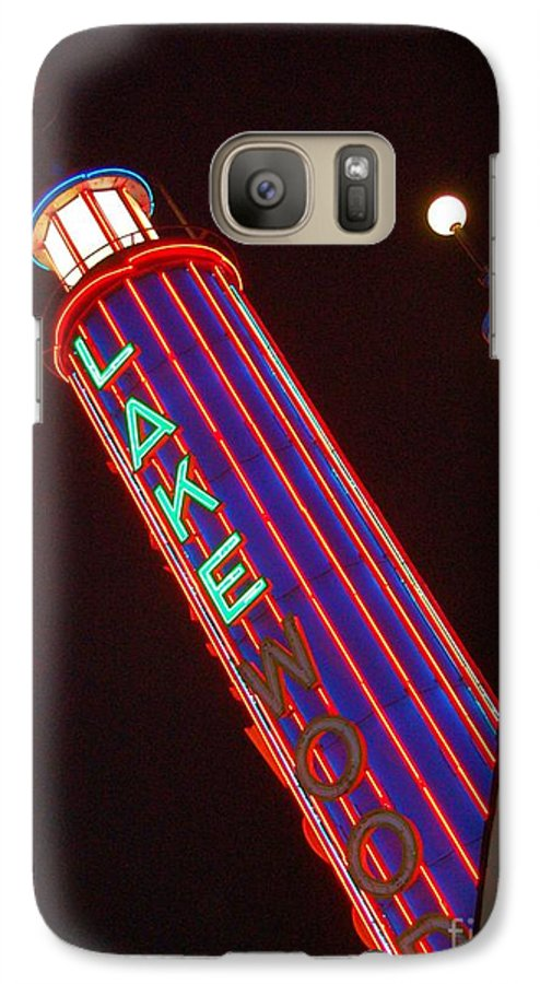 Neon Galaxy S7 Case featuring the photograph Sky Lights by Debbi Granruth
