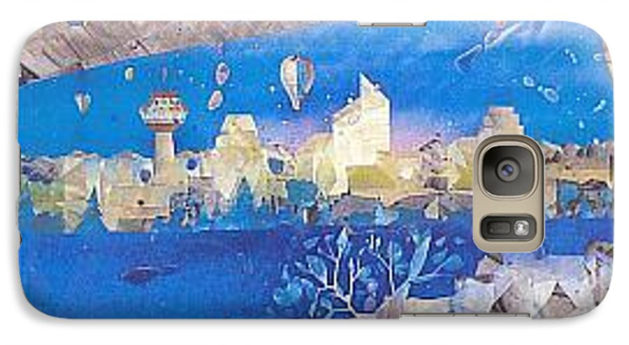 Landscape Galaxy S7 Case featuring the painting Skyline by Rick Silas