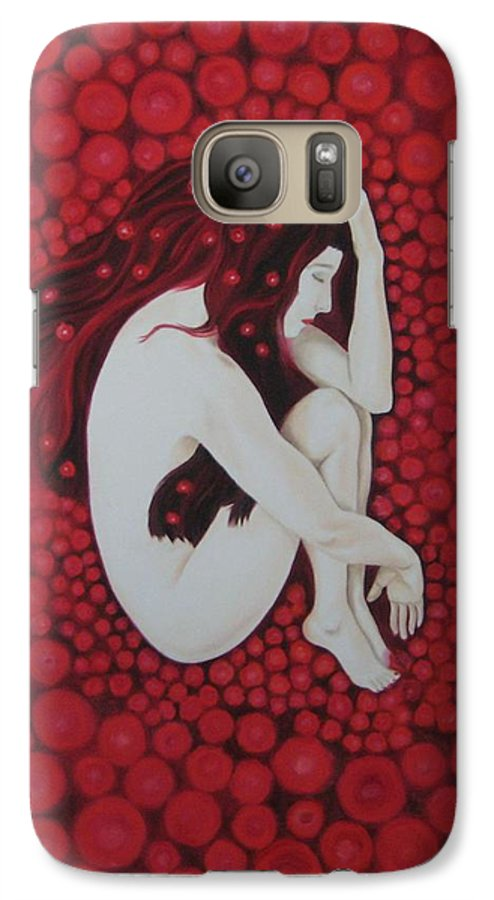 Female Galaxy S7 Case featuring the painting Sleeping Beauty by Jindra Noewi