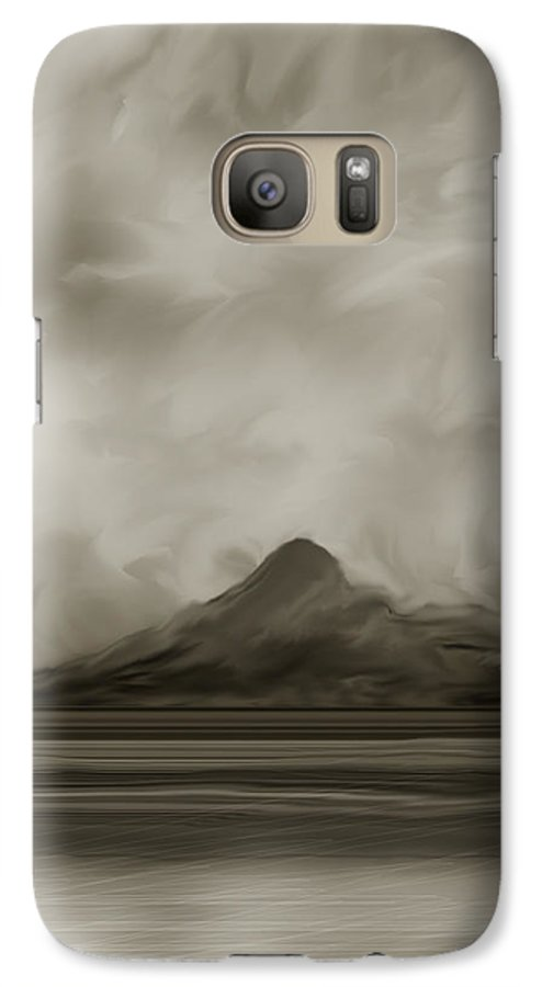 Wyoming Galaxy S7 Case featuring the painting Sleeping Giant And Beck Lake by Anne Norskog