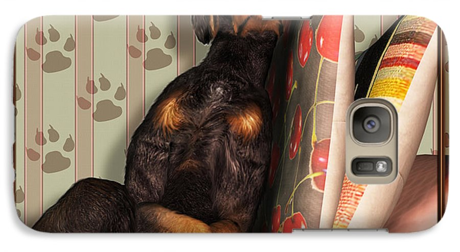 Dog Galaxy S7 Case featuring the digital art Sleeping I by Nik Helbig