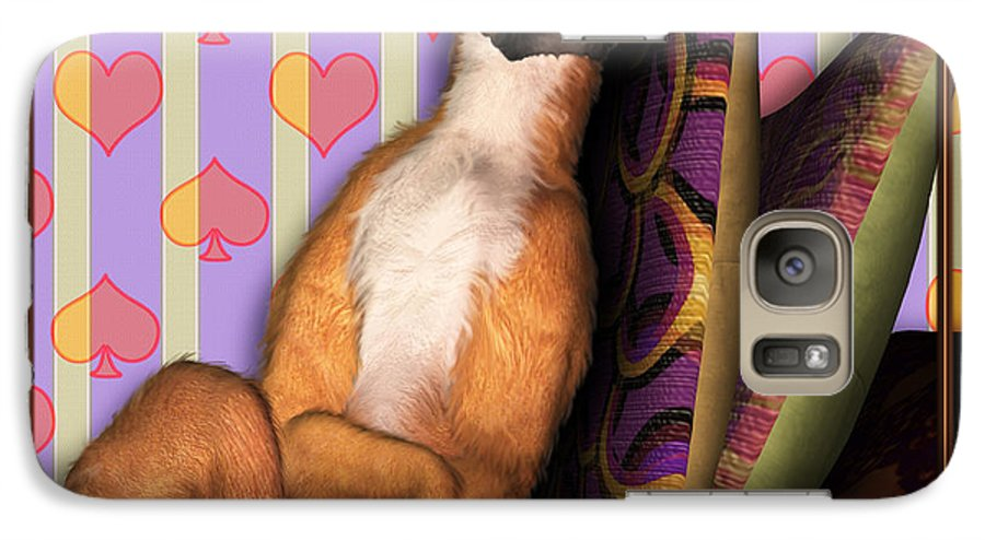 Dog Galaxy S7 Case featuring the digital art Sleeping II by Nik Helbig