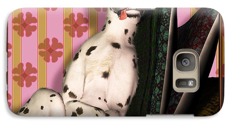 Dalmatian Galaxy S7 Case featuring the digital art Sleeping IIi by Nik Helbig