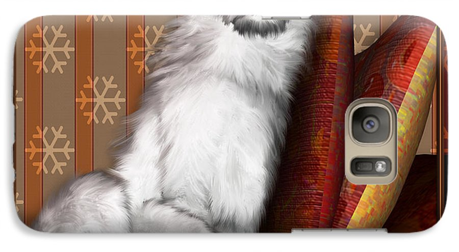 Dog Galaxy S7 Case featuring the digital art Sleeping Iv by Nik Helbig