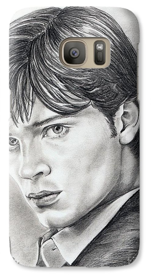 Superman Galaxy S7 Case featuring the drawing Smallville Tom Welling by Murphy Elliott