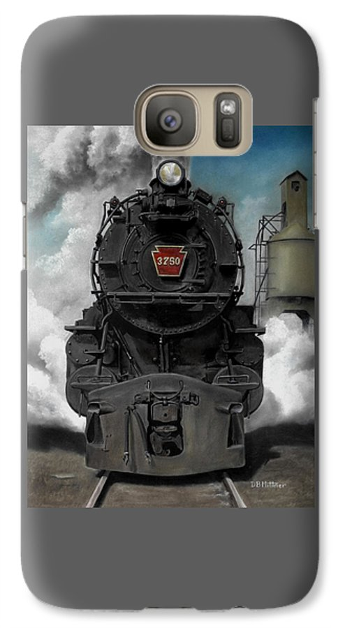 Trains Galaxy S7 Case featuring the painting Smoke And Steam by David Mittner
