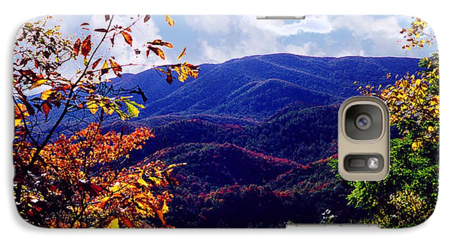 Mountain Galaxy S7 Case featuring the photograph Smoky Mountain Autumn View by Nancy Mueller