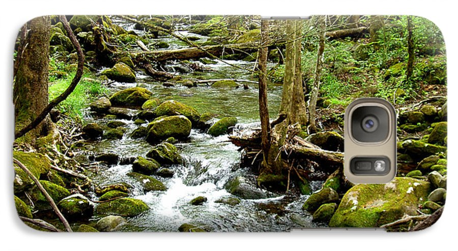 Smoky Mountains Galaxy S7 Case featuring the photograph Smoky Mountain Stream 1 by Nancy Mueller