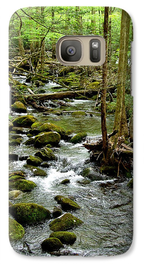 River Galaxy S7 Case featuring the photograph Smoky Mountain Stream 2 by Nancy Mueller
