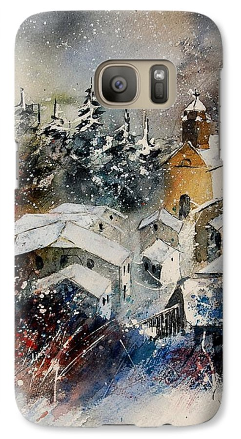 Landscape Galaxy S7 Case featuring the painting Snon In Frahan by Pol Ledent