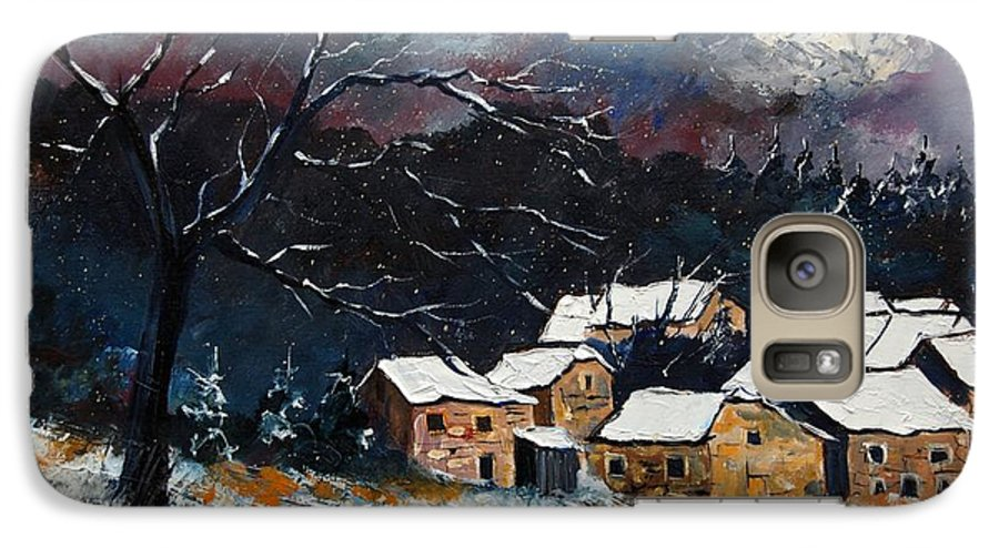 Snow Galaxy S7 Case featuring the painting Snow 57 by Pol Ledent