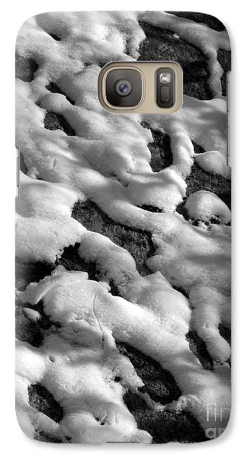 Black And White Galaxy S7 Case featuring the photograph Snow People by Chad Natti