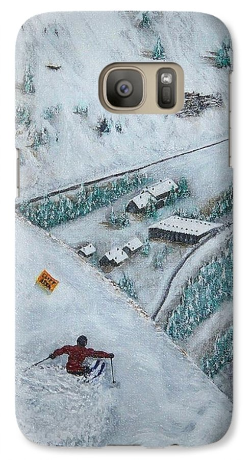 Ski Galaxy S7 Case featuring the painting Snowbird Steeps by Michael Cuozzo