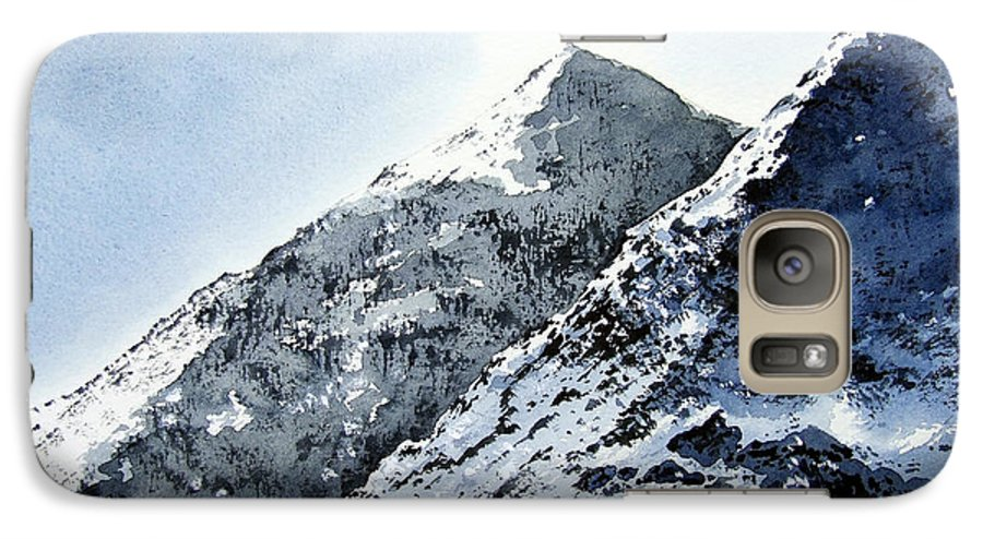 Snowdon Galaxy S7 Case featuring the painting Snowdon by Paul Dene Marlor