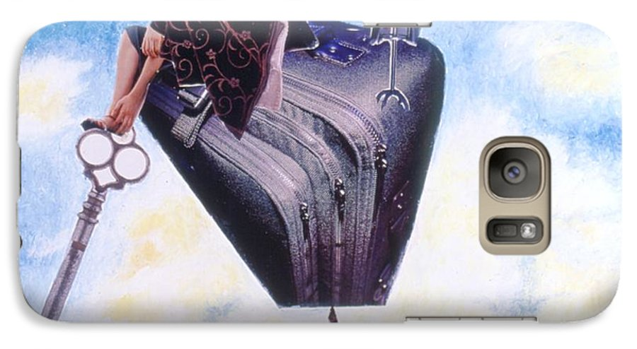Twin Towers Galaxy S7 Case featuring the drawing Soap Scene #11 Seek The Love Within by Minaz Jantz