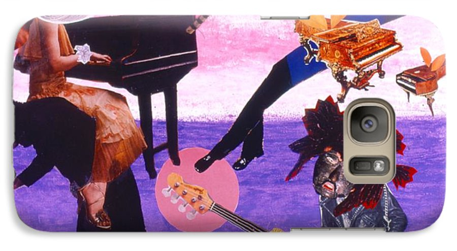 Grand Piano Galaxy S7 Case featuring the drawing Soap Scene #21 Beggar Belief by Minaz Jantz