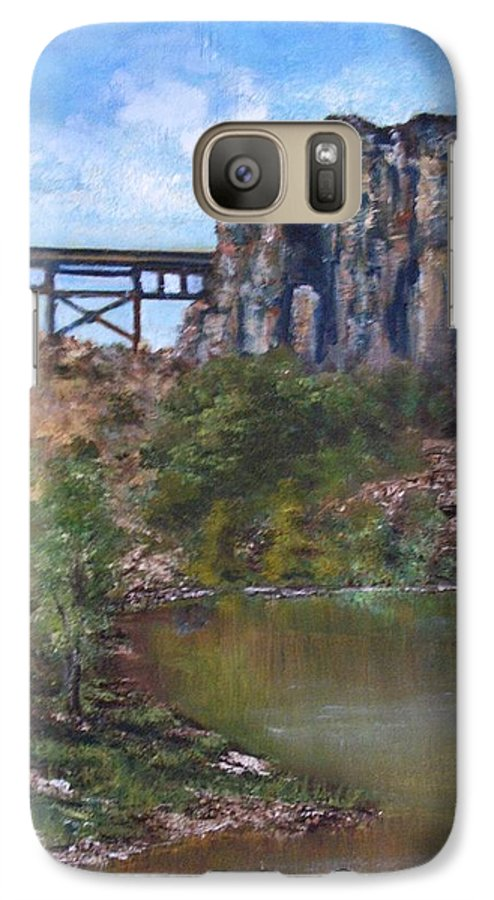 Landscape Galaxy S7 Case featuring the painting S.o.b Caynon by Darla Joy Johnson