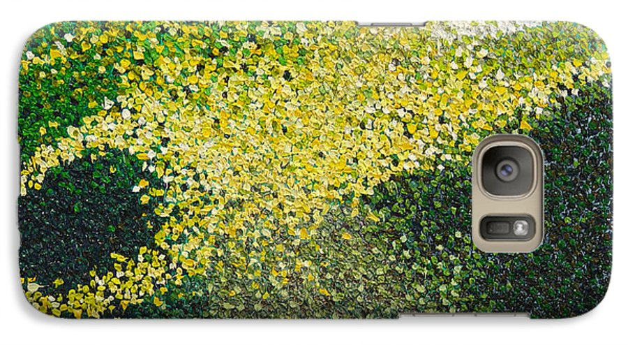 Abstract Galaxy S7 Case featuring the painting Soft Green Light by Dean Triolo