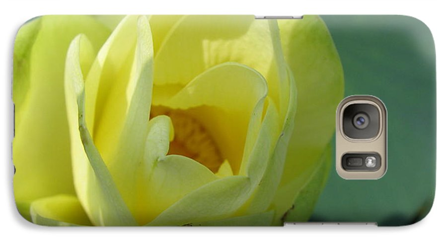 Lotus Galaxy S7 Case featuring the photograph Softly by Amanda Barcon