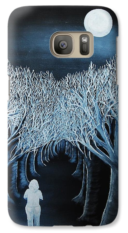 Landscape Galaxy S7 Case featuring the painting Solidad by Lauren Luna