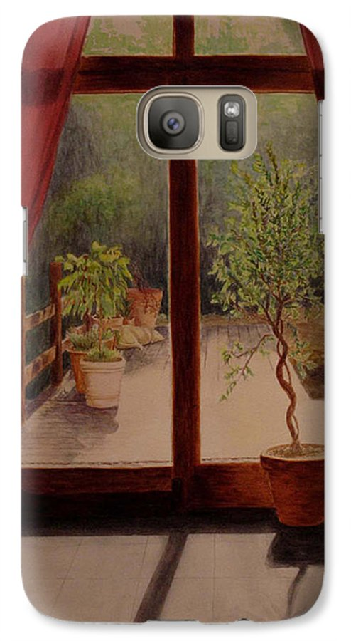 House Galaxy S7 Case featuring the painting Solitude by Nik Helbig