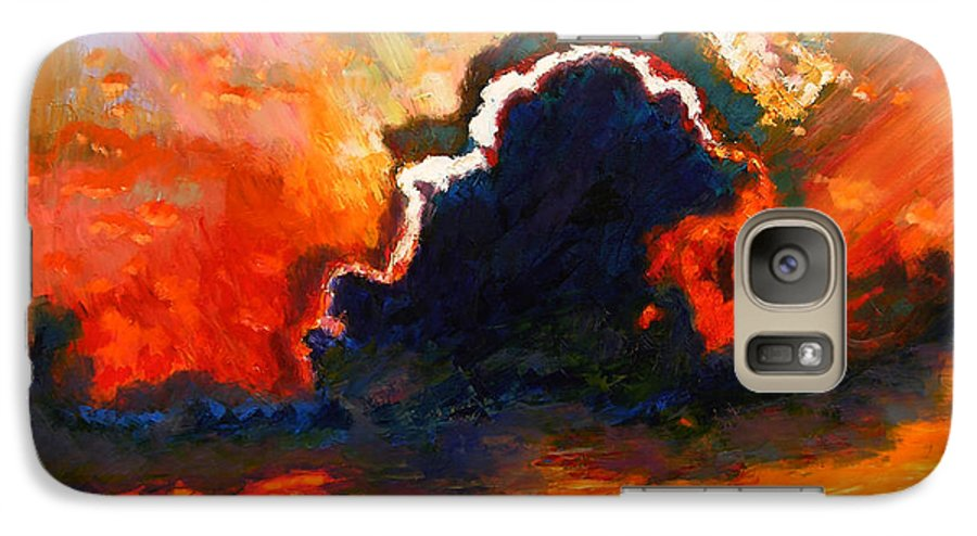 Landscape Galaxy S7 Case featuring the painting Some Glad Morning by John Lautermilch