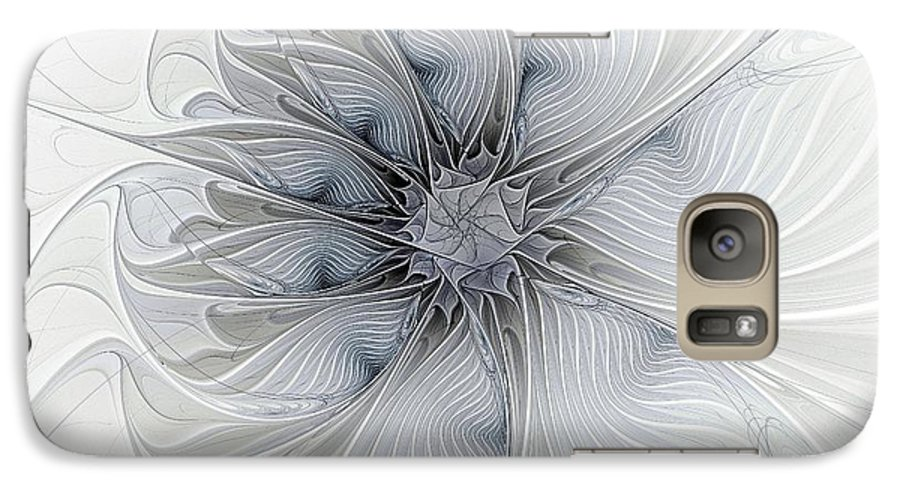Digital Art Galaxy S7 Case featuring the digital art Something Blue by Amanda Moore